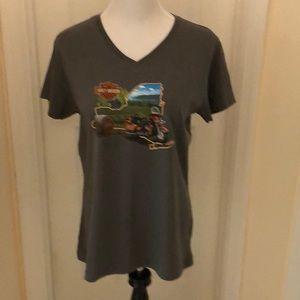 NWT Super cute V-neck T-shirt. Size L